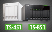 Nova geração de Storages NAS da QNAP TS-451 e TS-851