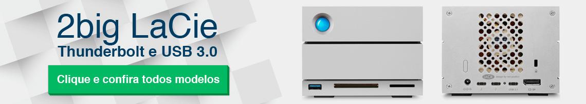 2big LaCie, soluções RAID 0 e 1 com conexão Thunderbolt e USB 3.0
