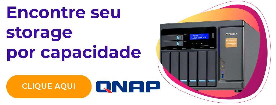 Encontre seu storage por capacidade - Qnap