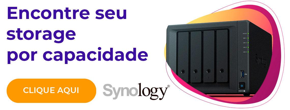 Encontre seu storage por capacidade - Synology