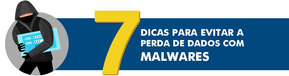 7 dicas para evitar a perda de dados com malwares com uma figura de um hacker sequestrando os arquivos