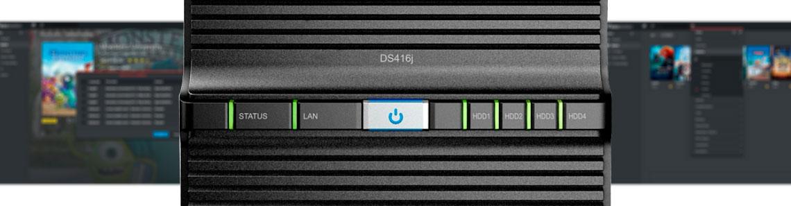 NAS Synology DS416J para transmissão de filmes, programas de tv e arquivos de vídeo