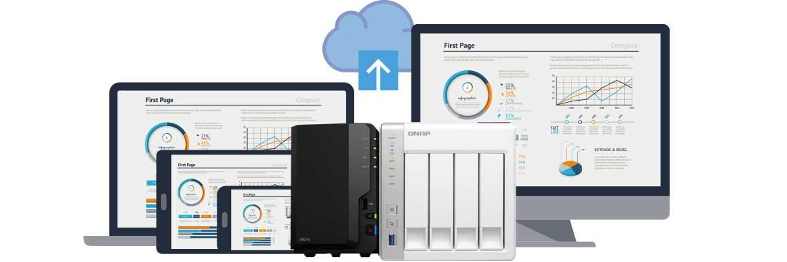 Acesso móvel e nuvem privativa com os storages Synology e Qnap