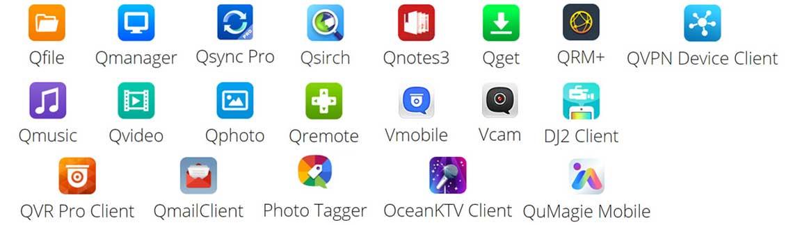 Aplicativos móveis para Qnap
