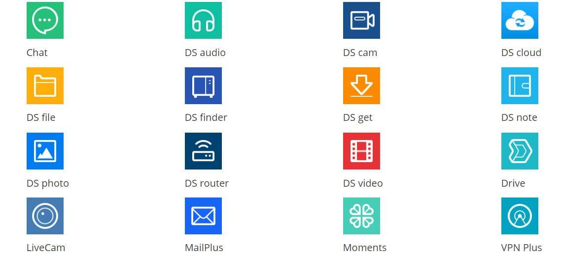 Aplicativos móveis para Synology