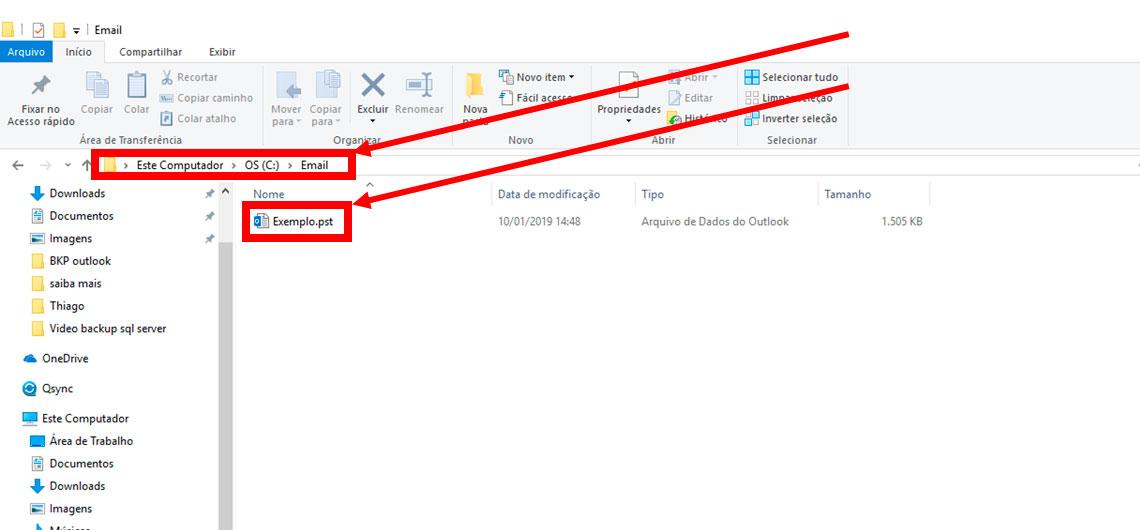 Tela computador - Email - selecionar - copiar