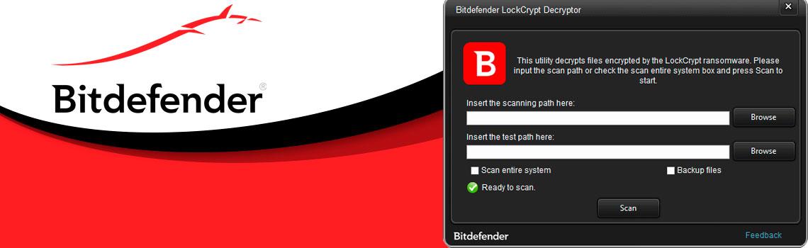 BitDefender - Tela de execução do BitDefender decryptor