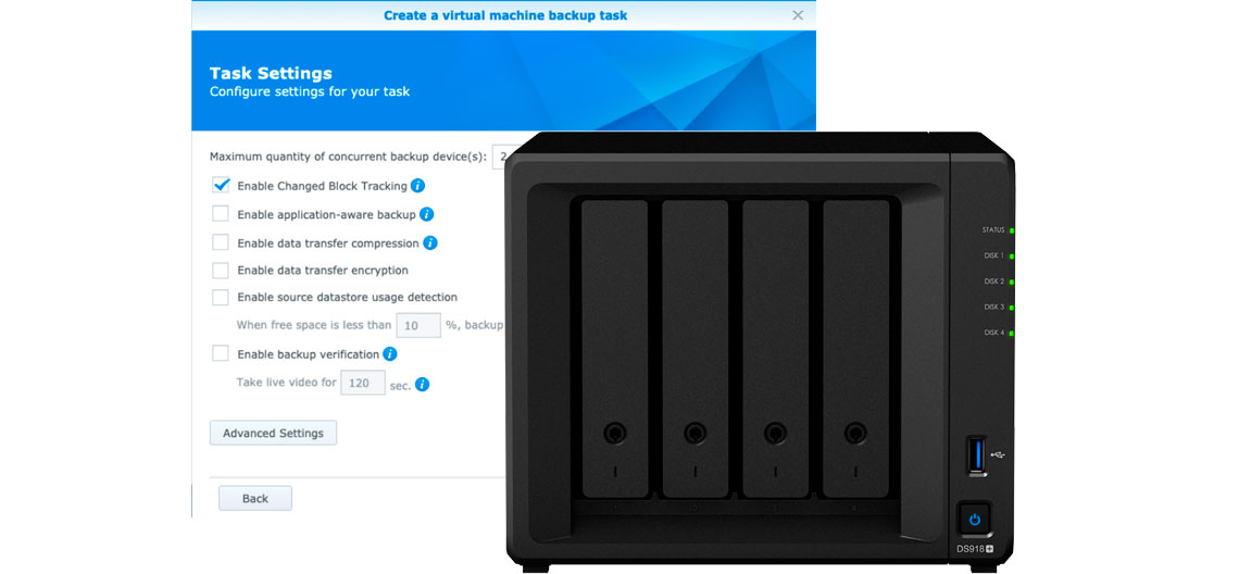 Changed Block Tracking, Storage Synology DS918+