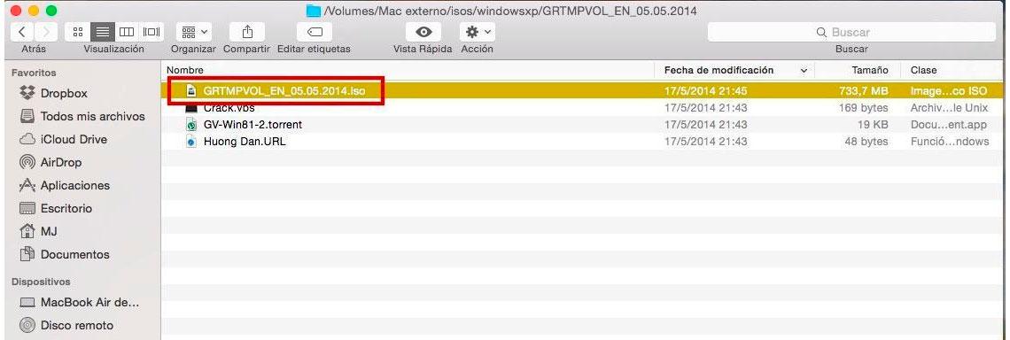 Como gravar imagem ISO em Mac