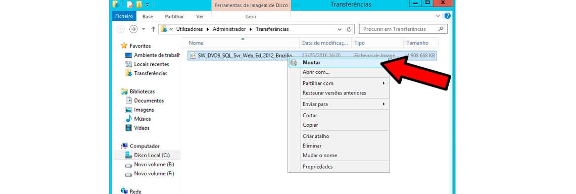 Como gravar imagem ISO em Windows