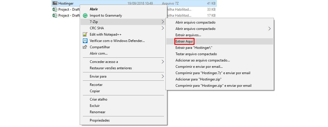 Extração de arquivo ISO através do 7-Zip