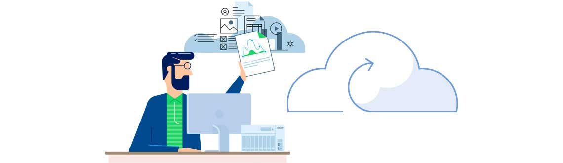 Save and share cloud files on the NAS