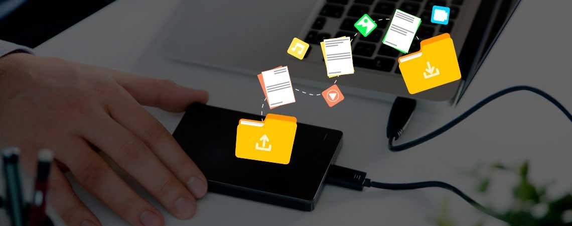 Mas o HD externo ainda é bom? imagem de transferência de arquivos entre hd externo e computador