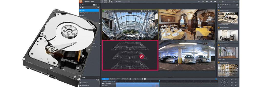 HD para CFTV projetado para trabalhar com gravação de vários canais simultâneos de vídeo