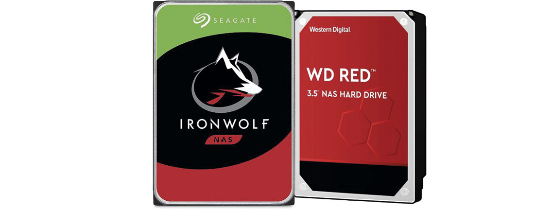HDDs próprios para Storages NAS, IronWolf Synology e WD Red