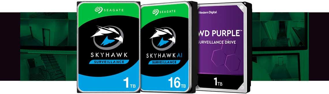 HDs ideais para sistemas de vigilância, Western Digital Purple, SkyHawk Surveillance e SkyHawk Surveillance AI