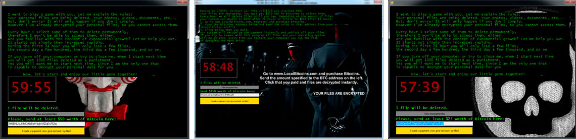 Tela do Ransomware - Jigsaw