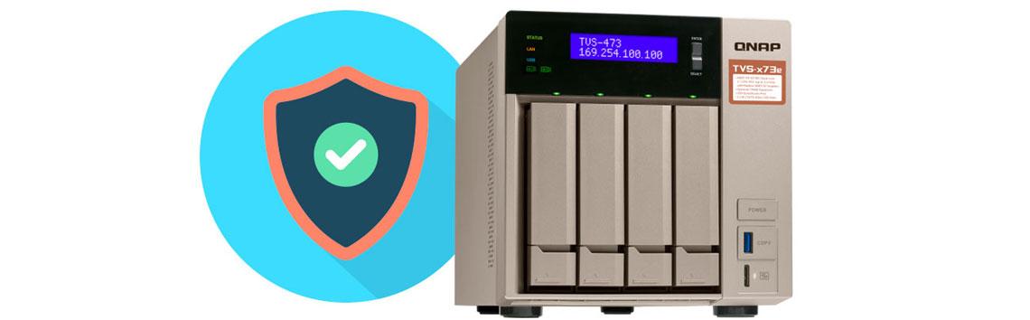 Qnap TVS-473e Storage NAS para servidor de arquivos seguro com arranjos RAID