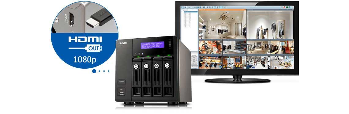 NVR Viostor armazenamento das imagens de câmeras digitais e painel do monitor com as imagens