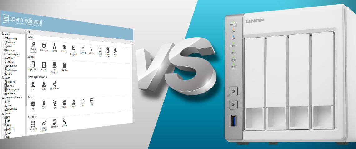 OpenMediaVault vs Qnap storage NAS TS-431P
