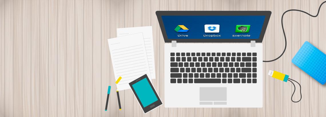Organize arquivos em dispositivos externos