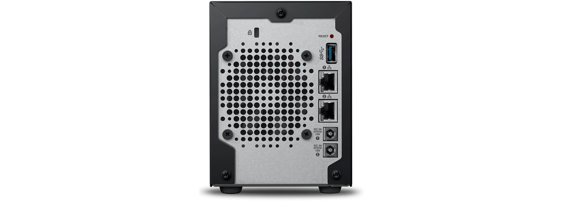 Painel traseiro do WD My Cloud Pro PR2100