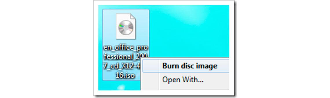 Gravar imagem em disco