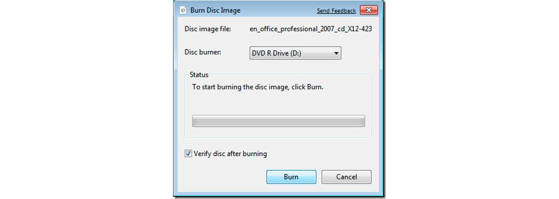 Gravador de imagem de disco
