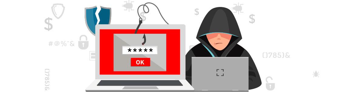 Imagem de um hacker usando a forma Phishing para espalhar Ransomware e capturar os arquivos de um computador
