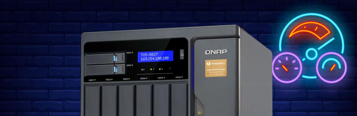 Storage NAS Qnap com alto desempenho via SSD