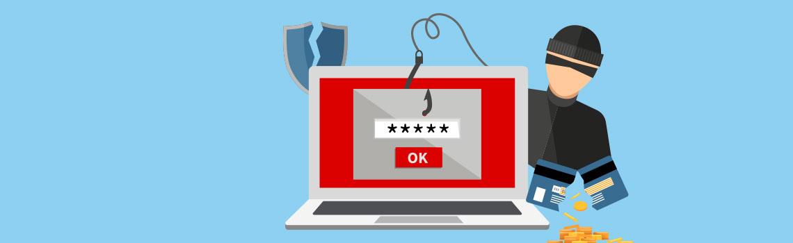 Proteja-se contra phishing e malware - computador sendo atacado