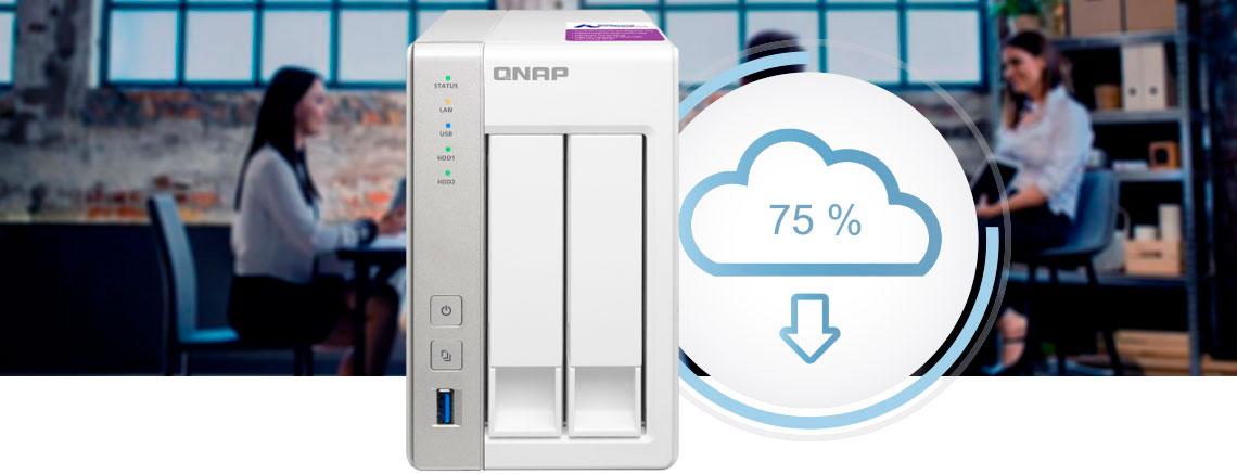 Armazenamento em nuvem privado - NAS Qnap sendo utilizado em ambiente de escritório para armazenamento de nuvem privado