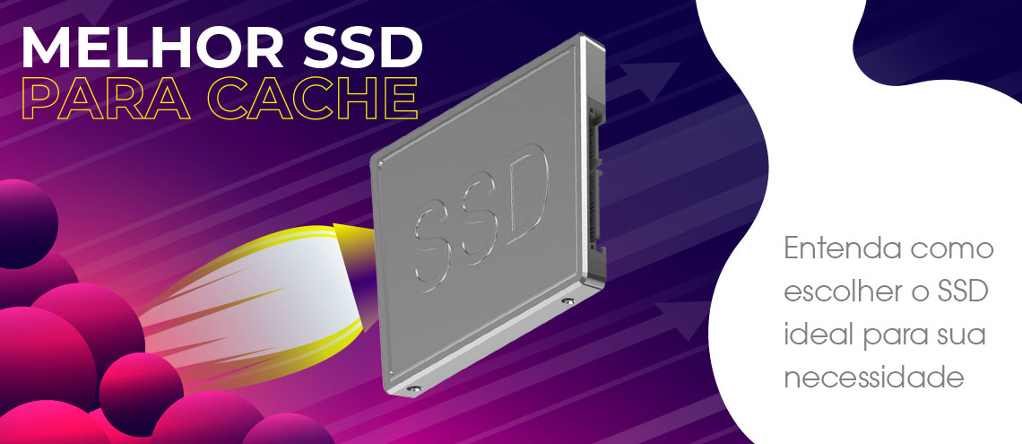 Melhor SSD para cache em storage NAS, SSD simbolizado como um foguete demonstrando a performance elevada que ele oferece