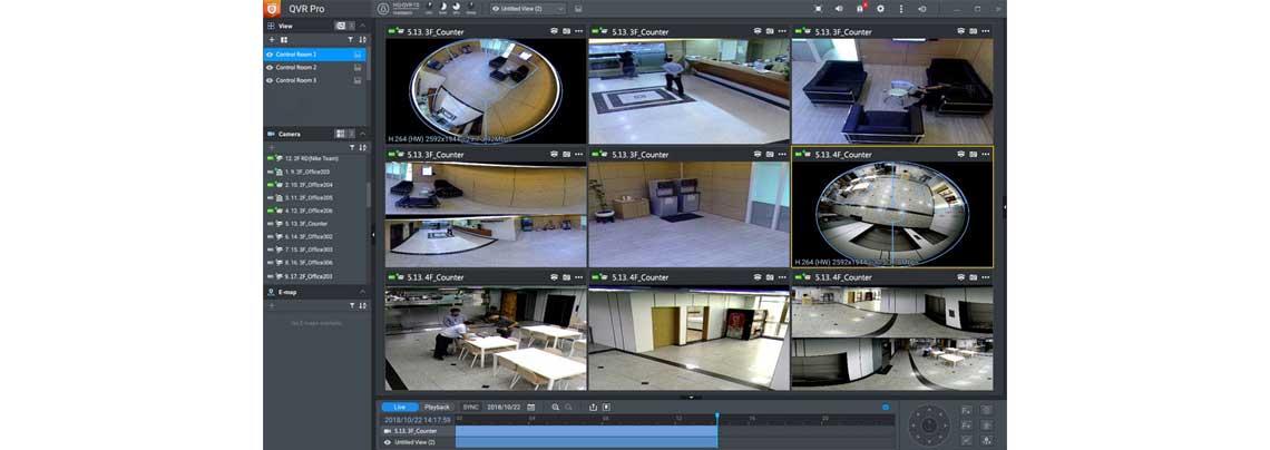 Sistema de vigilância QVR Pro Qnap