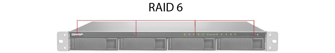 RAID 6 em um storage Qnap 4 baias