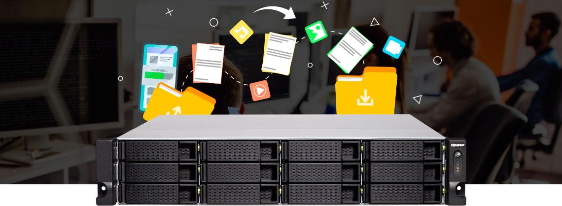 Servidor de arquivos em um storage NAS