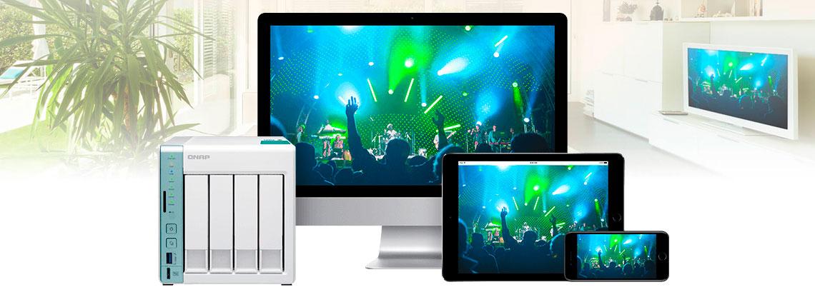 Sincronize as mídias para armazenamento e compartilhamento otimizado