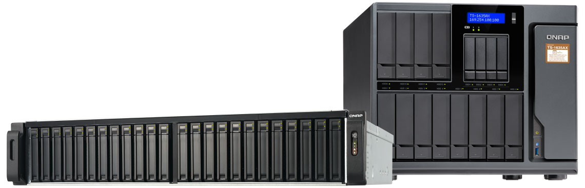 Modelos de storages NAS Qnap All flash TES-3085U e Hybrid Storage TS-1635AX