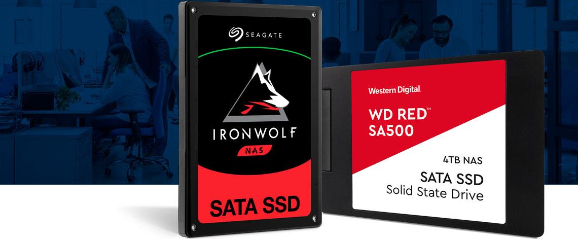Melhores SSDs para uso em storages NAS, Seagate Ironwolf SSD NAS e WD Red SSD