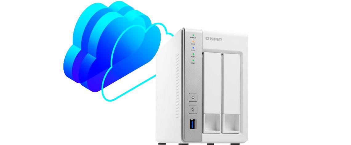 Qnap NAS TS-231P capacitado para criar uma nuvem privativa de dados