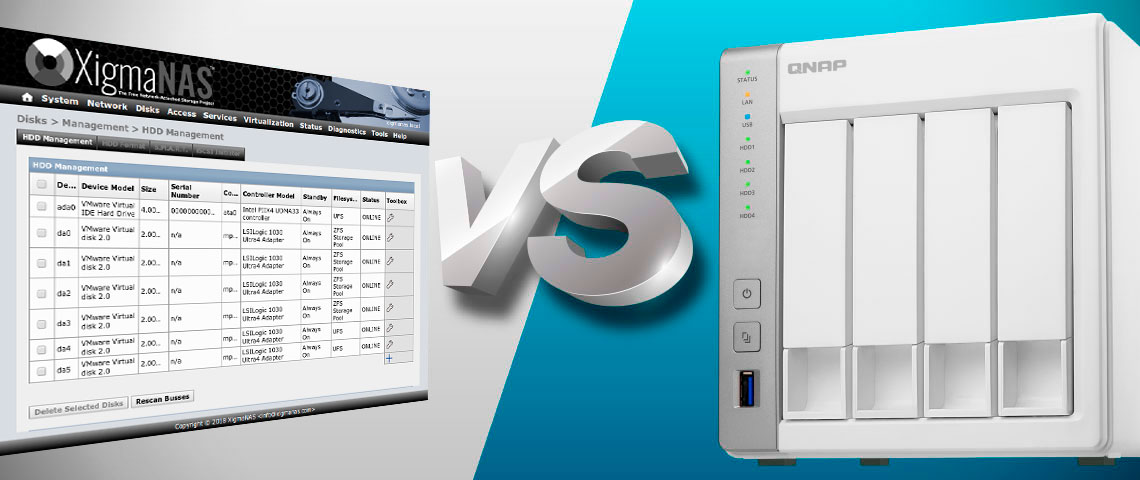 XigmaNAS vs storage NAS