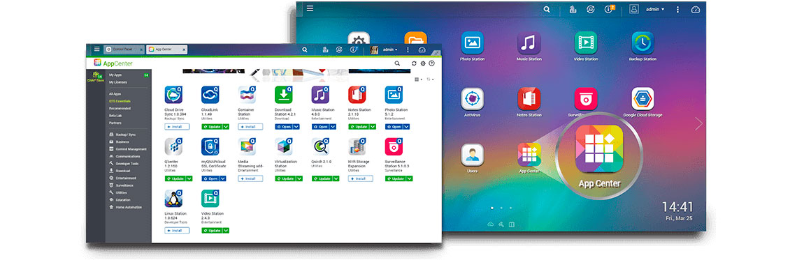 App Center Qnap