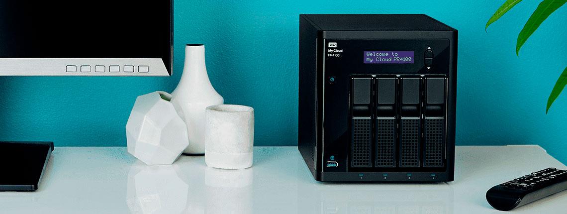 WD My Cloud Pro Series PR4100 NAS voltado para uso caseiro
