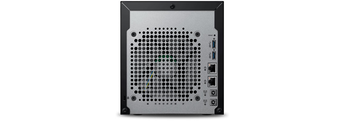 Painel traseiro do WD My Cloud EX4100