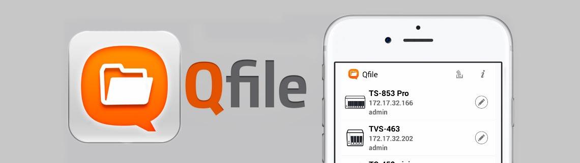 QFile HD Mobile App para gerenciamento remoto