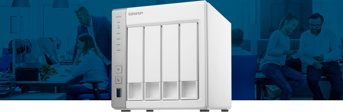 Storage 4-bay NAS para pequenas empresas e escritórios
