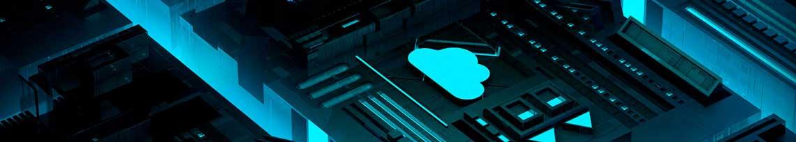 placa interna do HD com símbolo de backup em nuvem ao centro