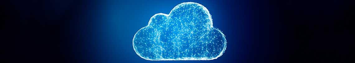 símbolo de nuvem de dados representado por desenho de nuvem
