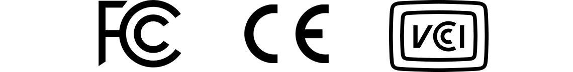 Certificados Internacionais FCC, CE e VCCI