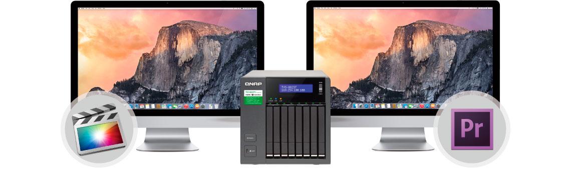TVS-882ST3 Qnap - Colaboração ideal (Mac + Mac)